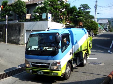 京都市のごみ収集車